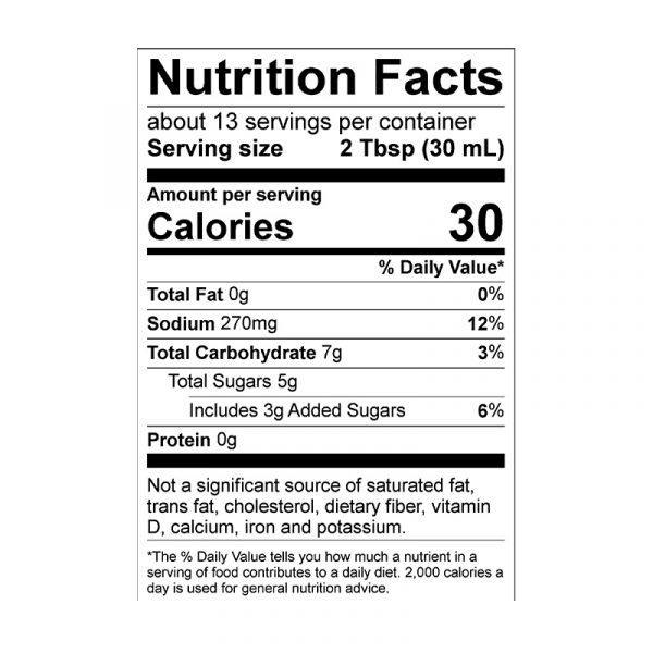 Brazen Heat Nutrition Info