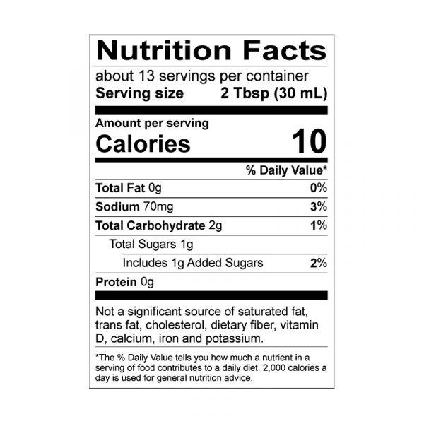 Carolina Bold Nutrition Info