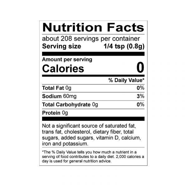 Premium Spice Blend Nutrition Info